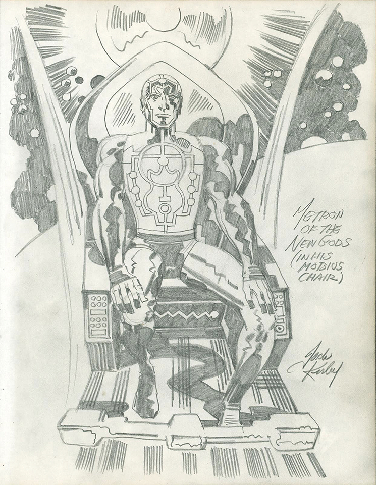 Details about JACK KIRBY Heroes & Villains METRON OF THE NEW GODS Original  COMIC ART